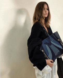 Chloe Blue Patchwork Tote Bag - Spring 2017