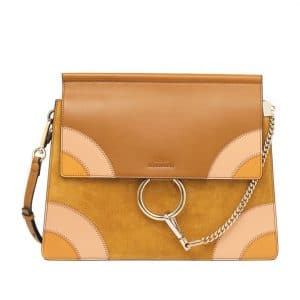 Chloe Mustard Faye Happy Shoulder Bag