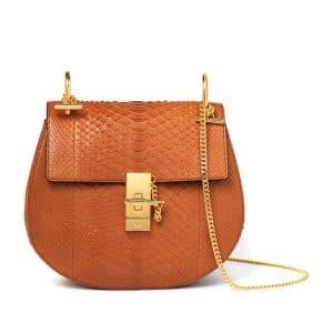 Chloe Tan Drew Python Shoulder Bag