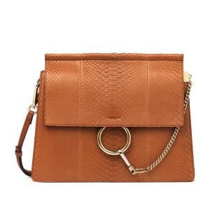 Chloe Tan Faye Python Shoulder Bag