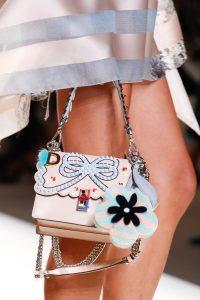 Fendi Beige Embellished Flap Bag - Spring 2017