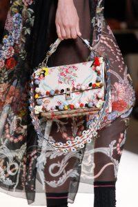 Fendi Beige Floral Printed Flap Bag - Spring 2017