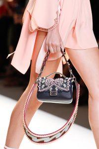 Fendi Black Embellished Double Micro Baguette Bag - Spring 2017