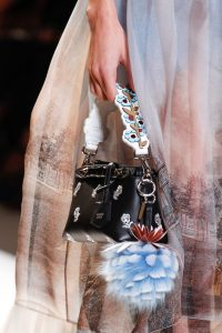 Fendi Black Floral Embroidered By The Way Bag - Spring 2017