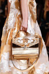 Fendi Gold Embellished Flap Bag - Spring 2017