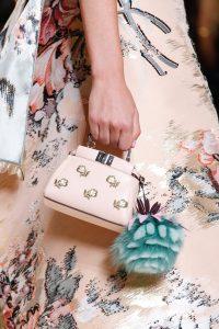 Fendi Pink Floral Embroidered Micro Peekaboo Bag - Spring 2017