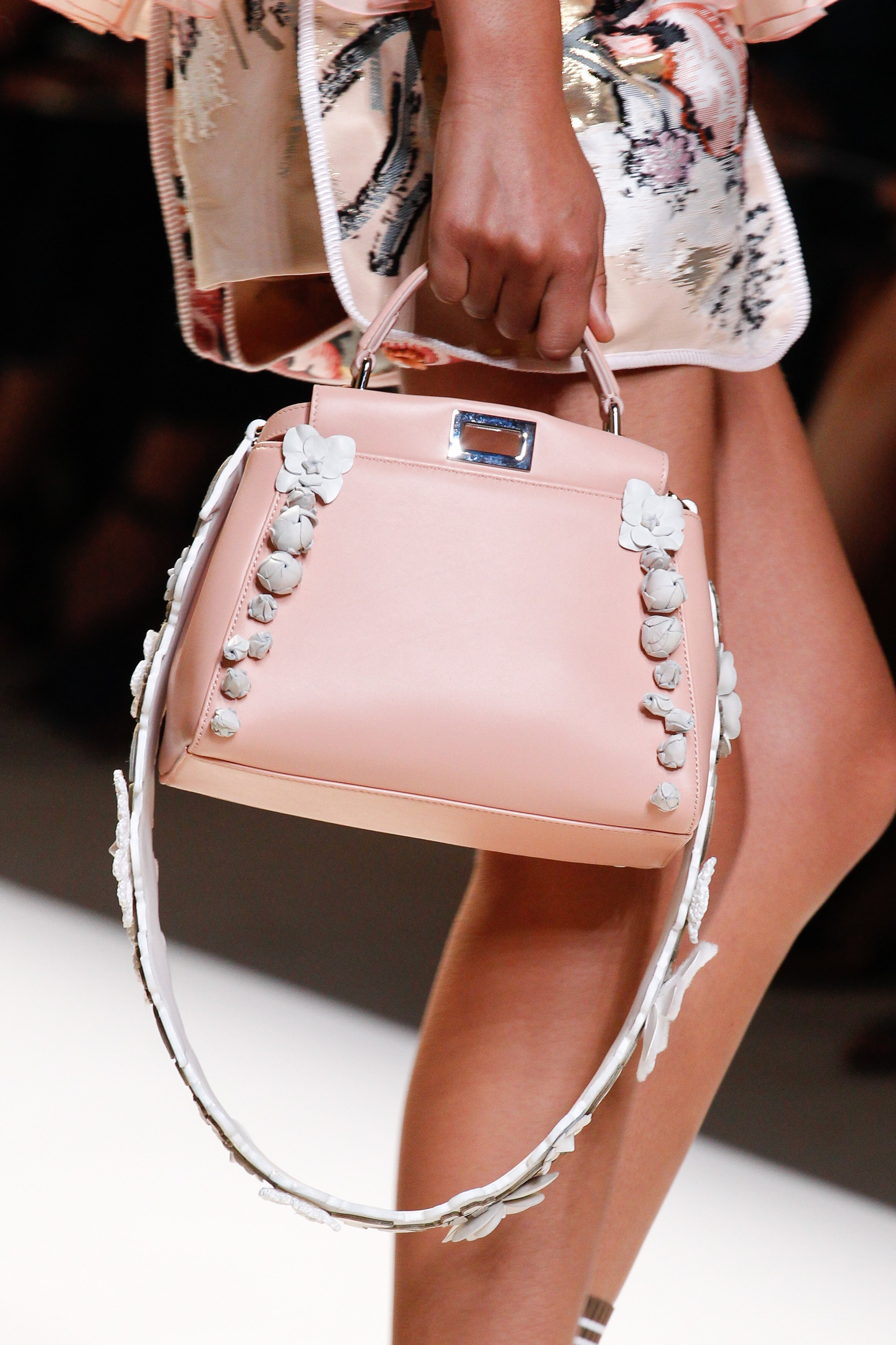 Fendi spring summer 2015 runway bag collection spotted fashion - Fendi Pink Mini Peekaboo Bag Spring 2017