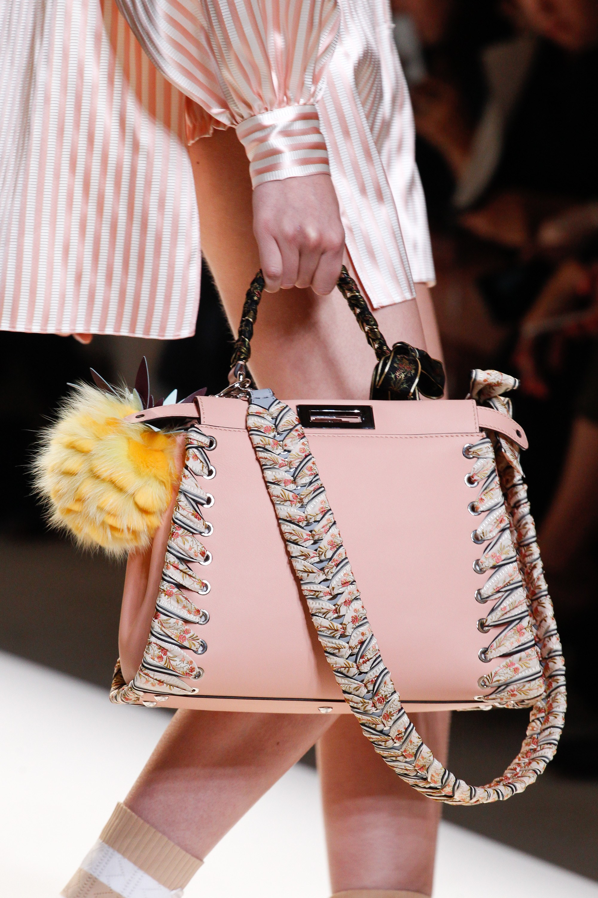 Fendi spring summer 2015 runway bag collection spotted fashion - Fendi Pink Whipstitch Peekaboo Bag Spring 2017