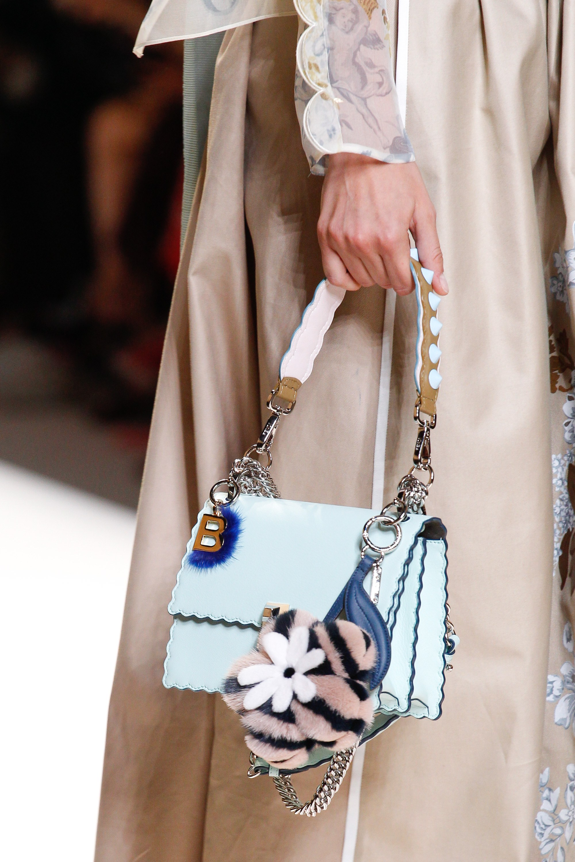 Fendi spring summer 2015 runway bag collection spotted fashion - Fendi Sky Blue Flap Bag Spring 2017