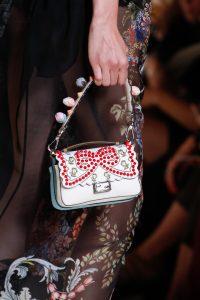 Fendi White Embellished Double Micro Baguette Bag - Spring 2017