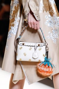Fendi White Floral Embroidered By The Way Bag - Spring 2017