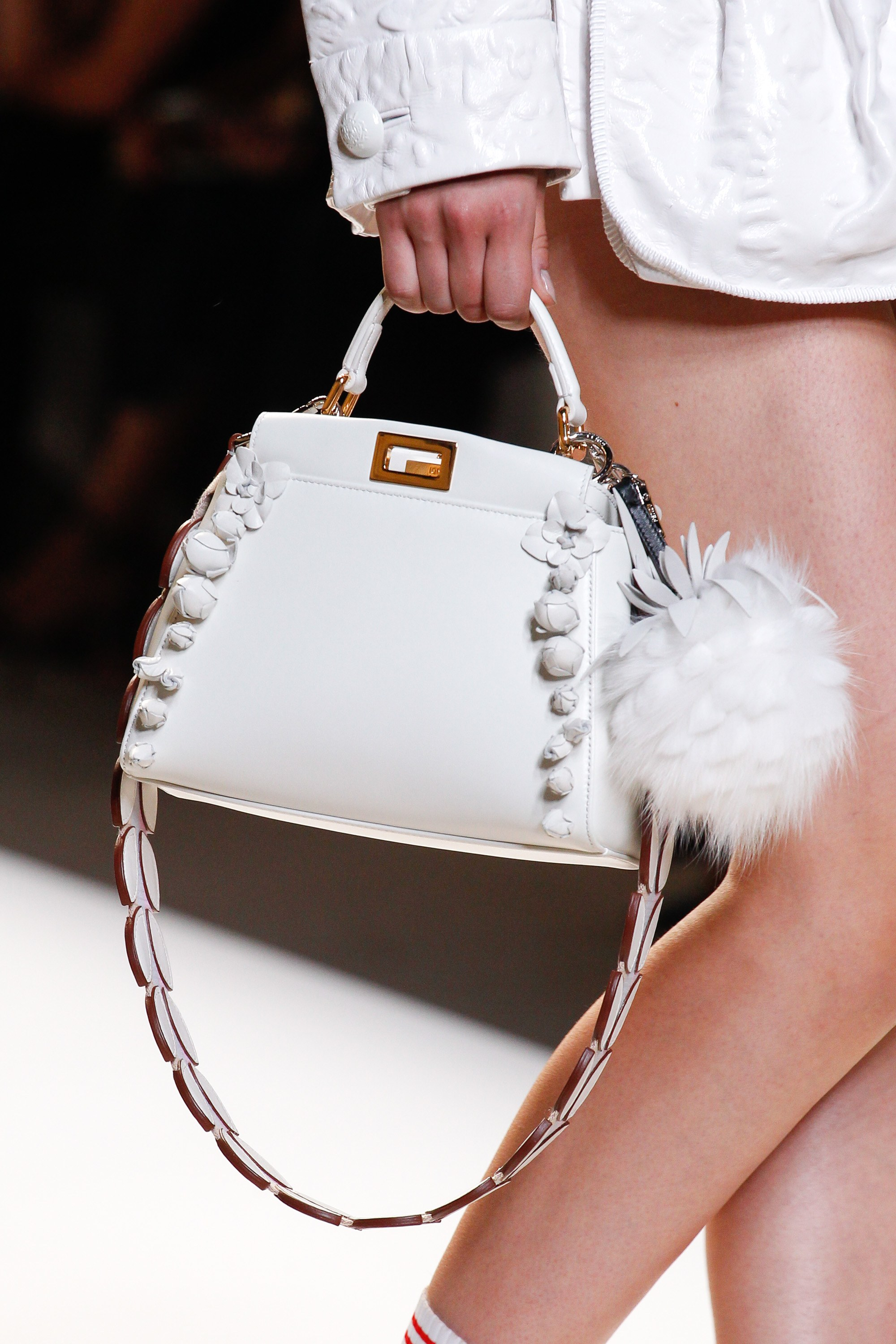 Fendi spring summer 2015 runway bag collection spotted fashion - Fendi White Peekaboo Bag Spring 2017
