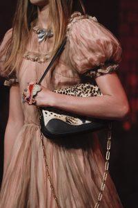 Gucci Black Leopard Print Flap Bag - Spring 2017
