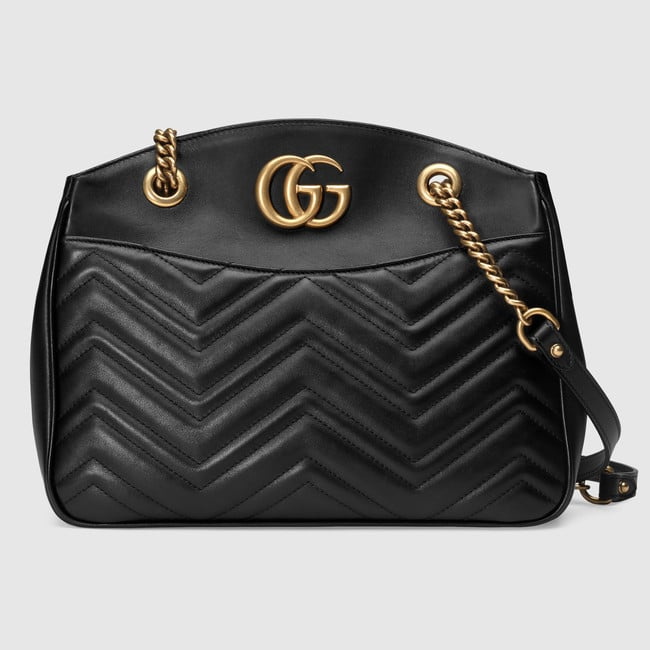 45db2b34a8e Gucci Black Matelasse GG Marmont Tote Bag. GUCCI Ophidia embroidered small  shoulder bag