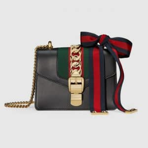 Gucci Black Sylvie Mini Chain Bag