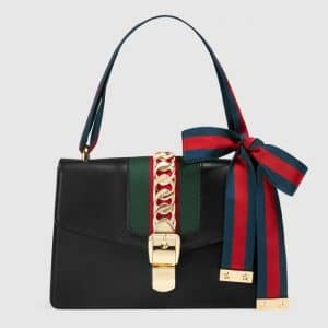 Gucci Black Sylvie Shoulder Bag