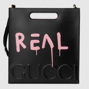 Gucci Black/Pink Medium GucciGhost Tote Bag