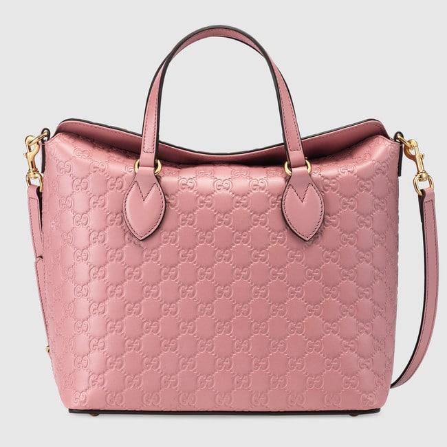 27bc7311621 Gucci Candy Pink Signature Medium Top Handle Bag
