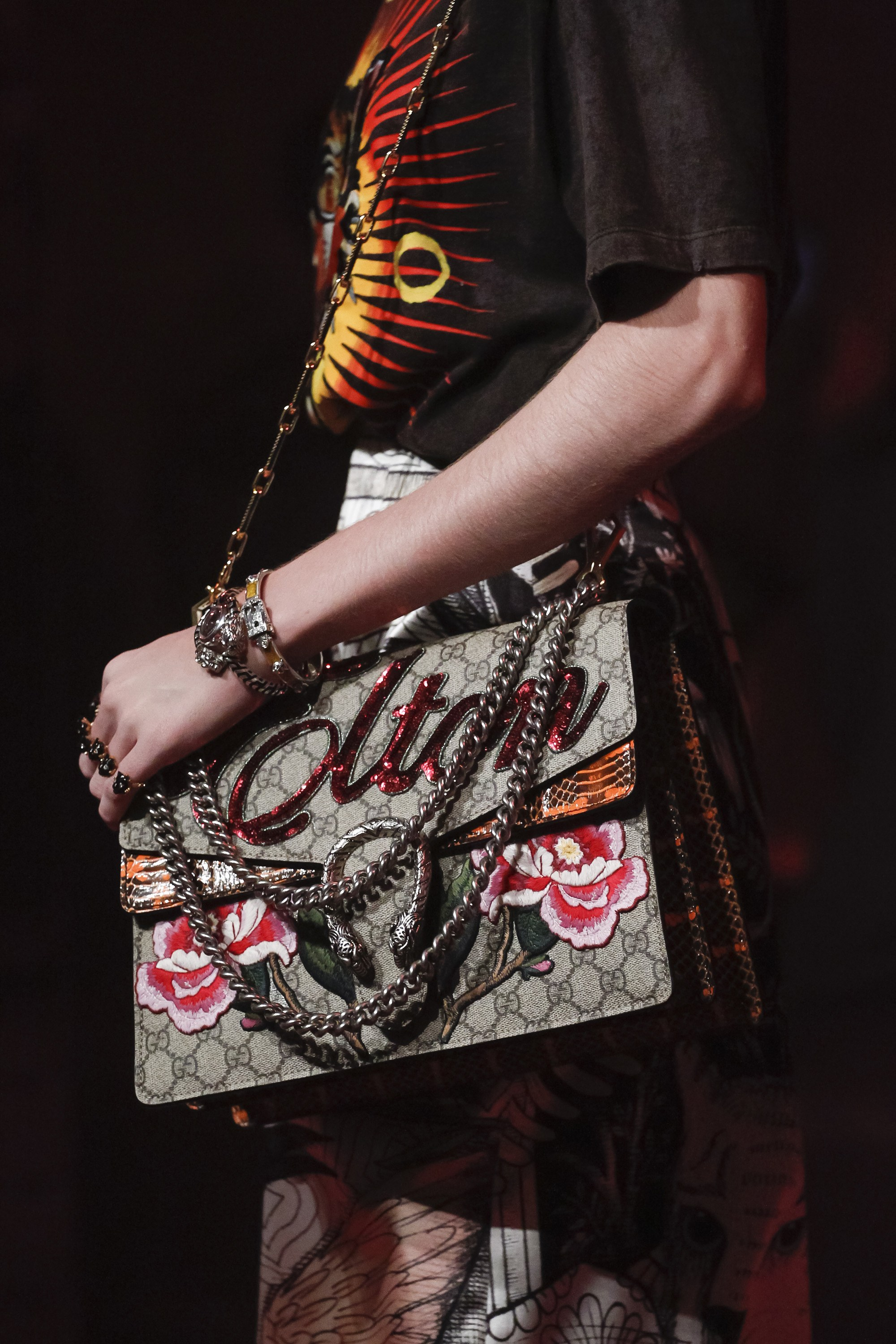 gucci bags fall 2017. gucci embroidrerd gg supreme dionysus bag - spring 2017 bags fall o