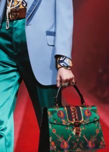 Gucci Green Floral Print Sylvie Top Handle Bag 2 - Spring 2017
