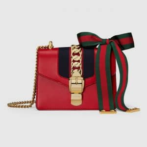 Gucci Hibiscus Red Sylvie Mini Chain Bag