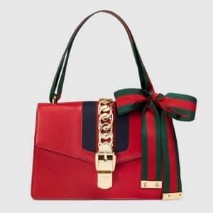 Gucci Hibiscus Red Sylvie Shoulder Bag