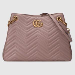 Gucci Nude Matelasse GG Marmont Medium Shoulder Bag