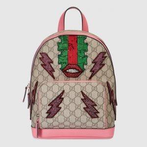 Gucci Pink Beaded Sky GG Supreme Backpack Bag