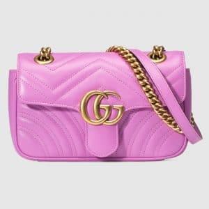 Gucci Pink Matelasse GG Marmont Mini Flap Bag