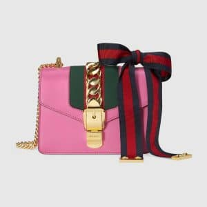 Gucci Pink Sylvie Mini Chain Bag