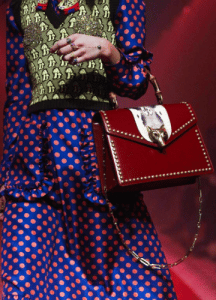 Gucci Red Studded Top Handle Bag 2 - Spring 2017