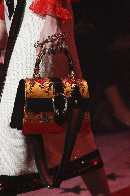 Gucci Yellow Black Red Fl Print Dionysus Top Handle Bag Spring 2017