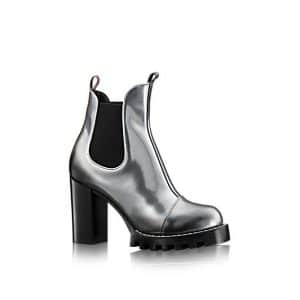 Louis Vuitton Metallic Calf Leather Star Trail Ankle Boot