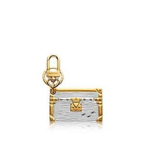 Louis Vuitton Silver Epi Petite Malle Bag Charm