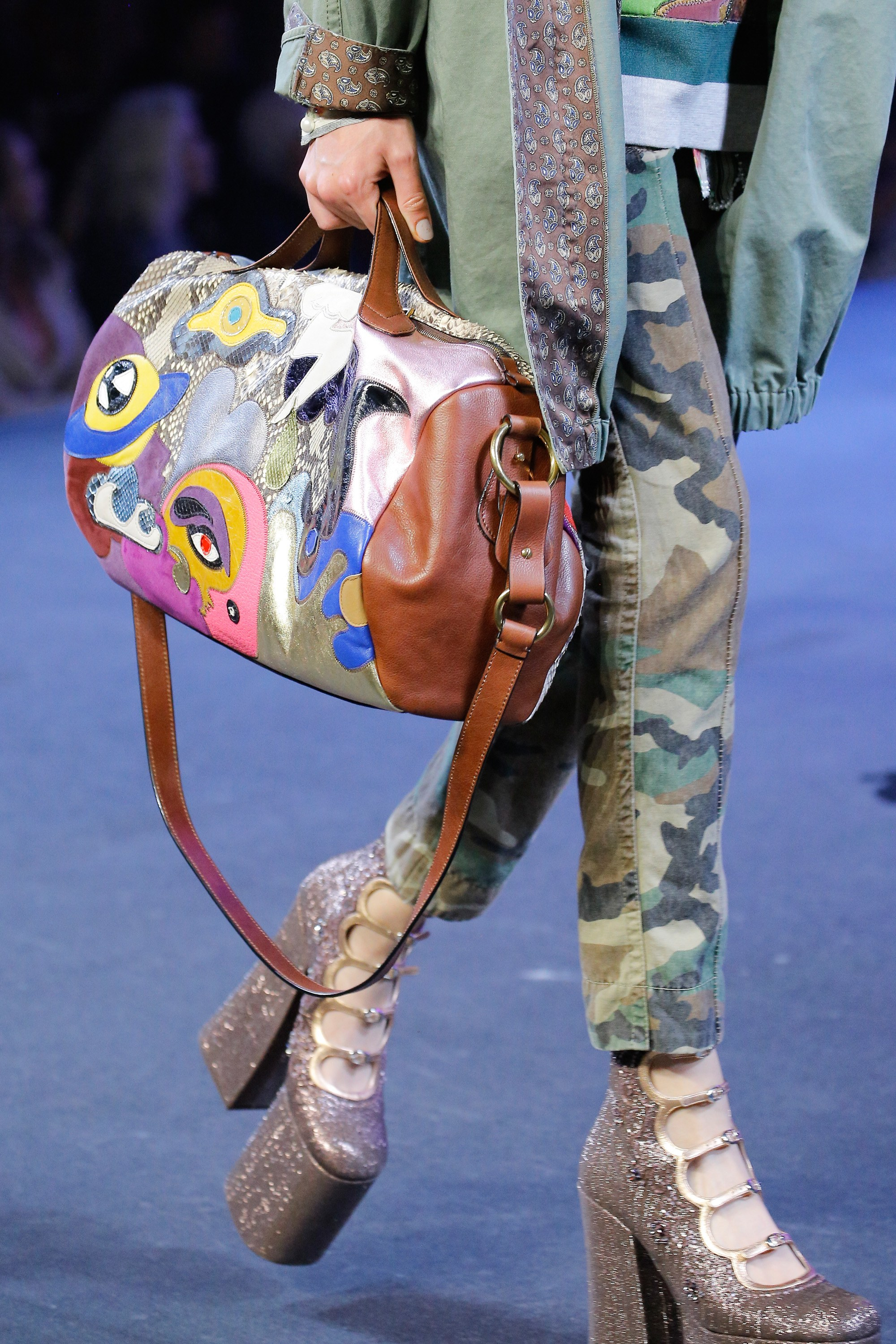 Marc Jacobs Brown Multicolor Duffle Bag Spring 2017