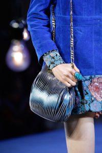 Marc Jacobs Gray/Blue Drawstring Bag - Spring 2017