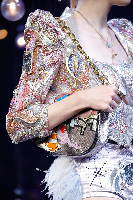 Marc Jacobs Pink Python Flap Bag Spring 2017