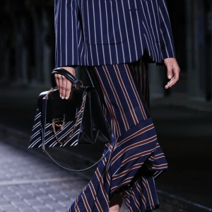 Mulberry Black Striped Top Handle Bag - Spring 2017