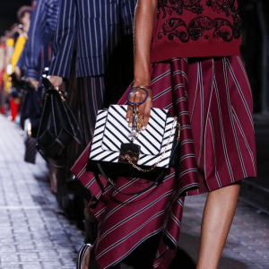 Mulberry Black/White Striped Flap Bag 2 - Spring 2017