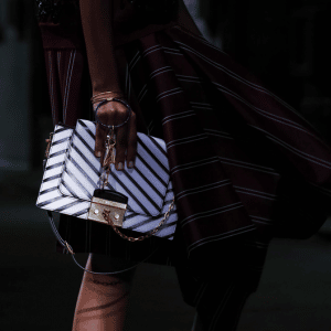 Mulberry Black/White Striped Flap Bag - Spring 2017