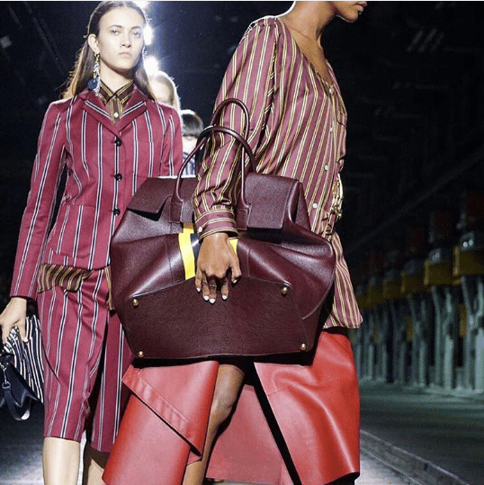 39e8176319 Mulberry Burgundy Oversized Tote Bag - Spring 2017. IG   janet swaby fashion designer