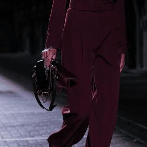 Mulberry Burgundy/Black Flap Bag - Spring 2017