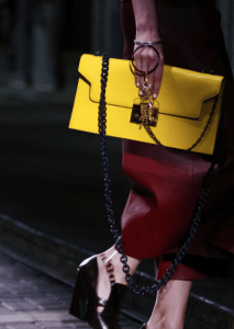 Mulberry Yellow Oversized Flap Bag - Spring 2017