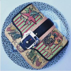 Paula Cademartori Beige Printed Clutch Bag - Spring 2017