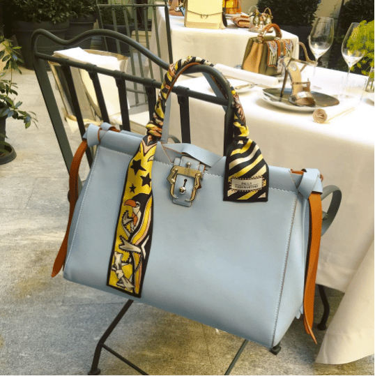 Paula Cademartori Light Blue Tote Bag - Spring 2017