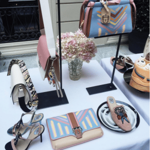 Paula Cademartori Light Blue/Pink/Beige Clutch and Tote Bags - Spring 2017