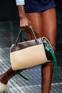 Prada Beige/Brown/Green Top Handle Bag - Spring 2017