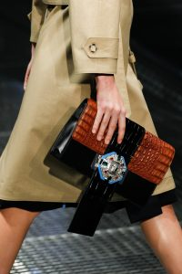 Prada Black/Brown Crocodile Clutch Bag - Spring 2017