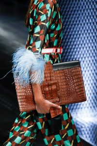 Prada Black/Brown Crocodile Oversized Clutch Bag 2 - Spring 2017