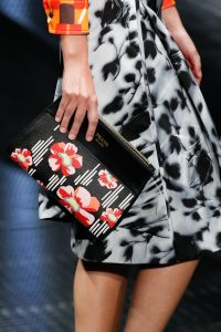 Prada Black/Red Floral Printed Clutch Bag - Spring 2017